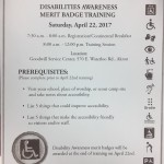 Merit Badge: Disabilities Awareness 04/22