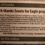 Eagle Project Thanks