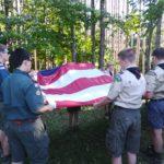 Troop 155 Wins the Retreat Banner